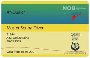 4* NOB – Master Scuba Diver